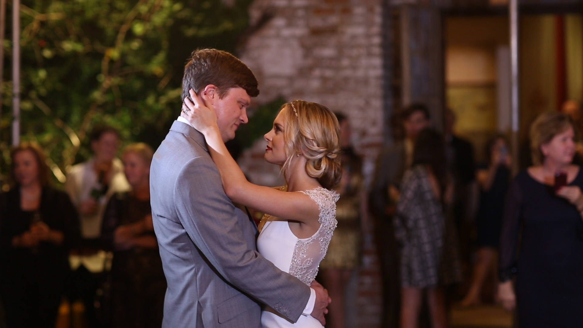 The first dance was so romantic underneath the dreamy lighting of Race and Religious.