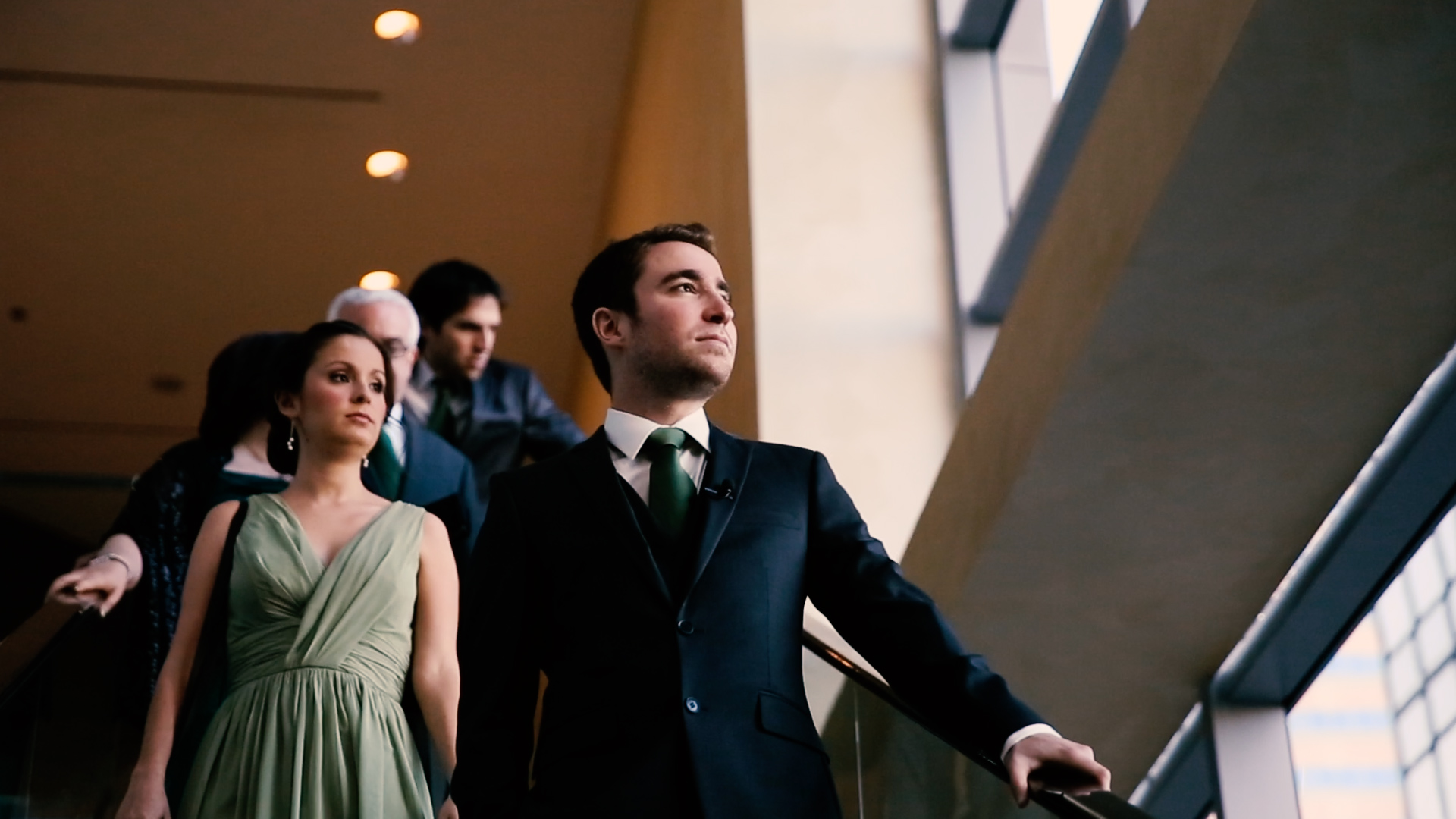 The handsome groom on the way to meet his lovely bride...