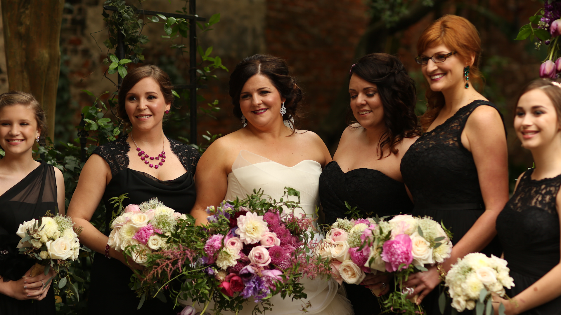 Bride Film - Black Bridesmaids Dresses