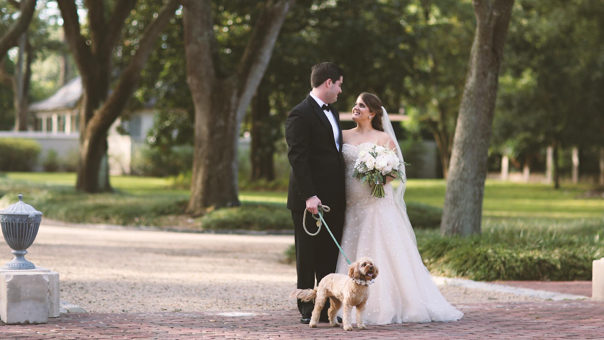 Longue Vue Garden Wedding Videographers New Orelans Puppy Wedding - Bride Film