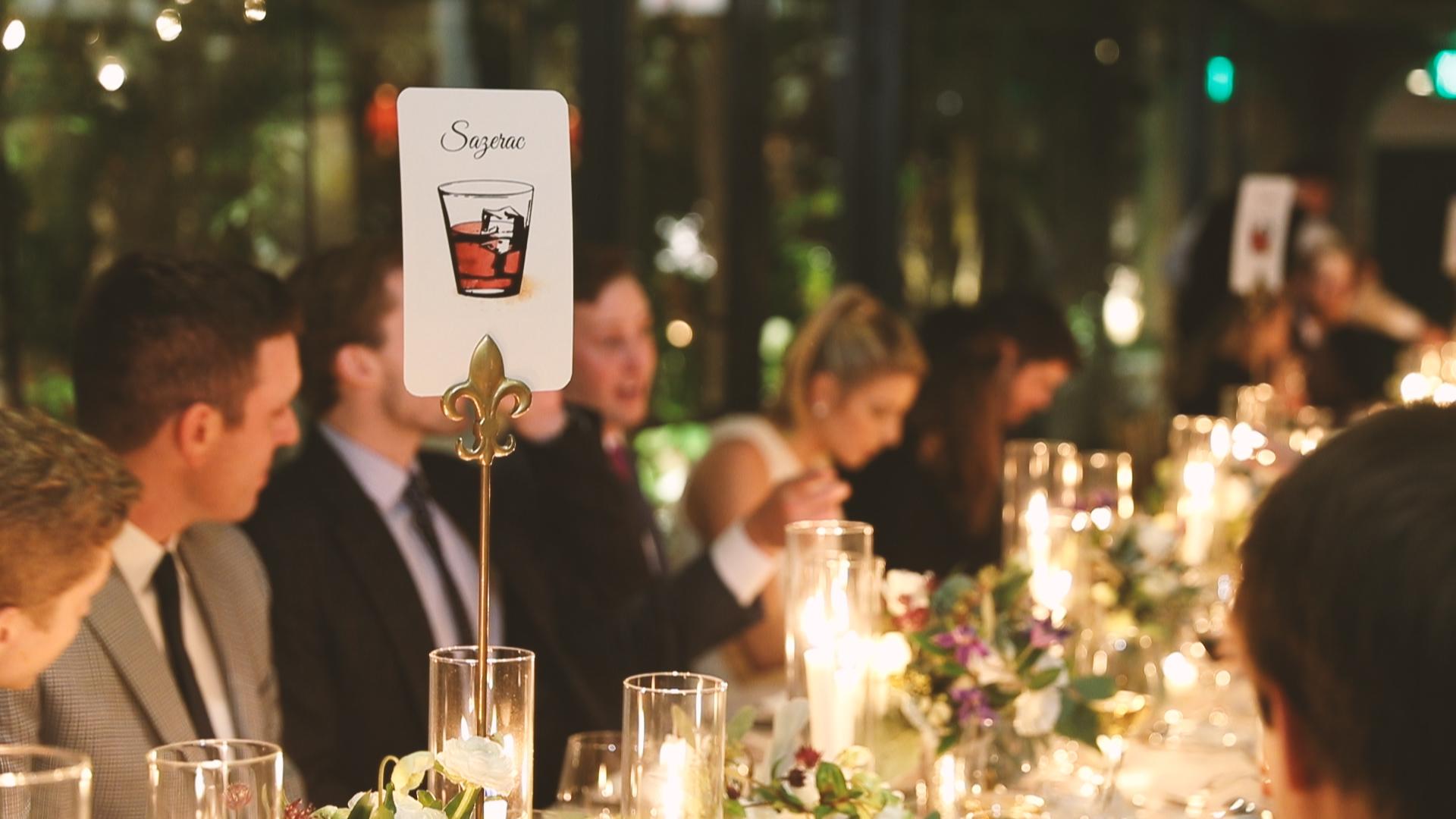 Table Names - Bride Film