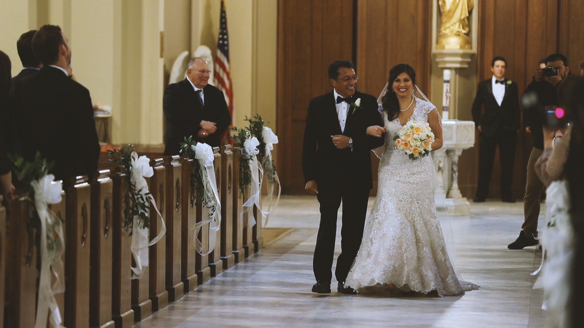 Gabby and Patrick_Father walking bride down aisle