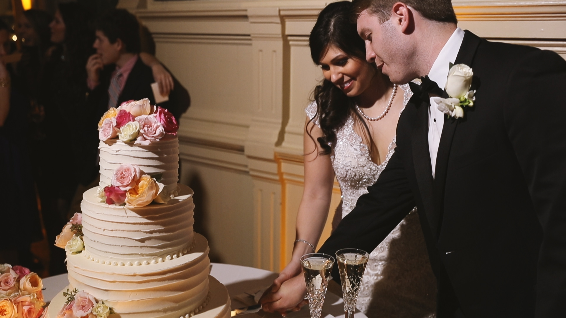 Gabby and Patrick_Cake cutting New Orleans Board of Trade