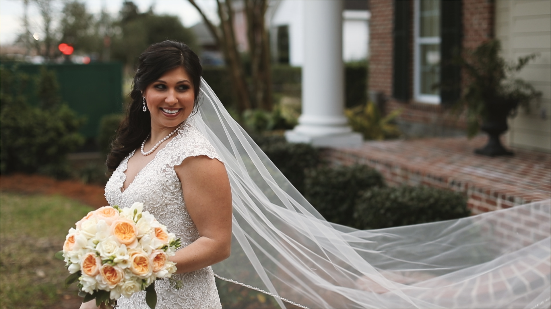 Gabby and Patrick_Bride with veil
