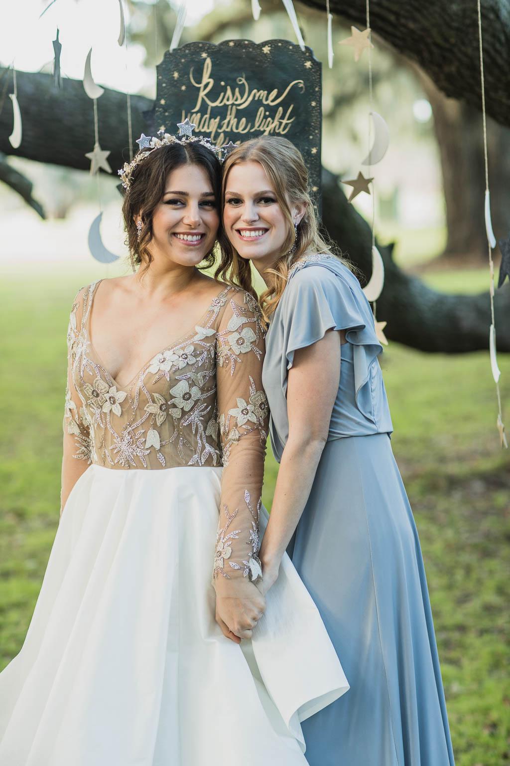 Blue Grey Bridesmaid Dress - Bride Film