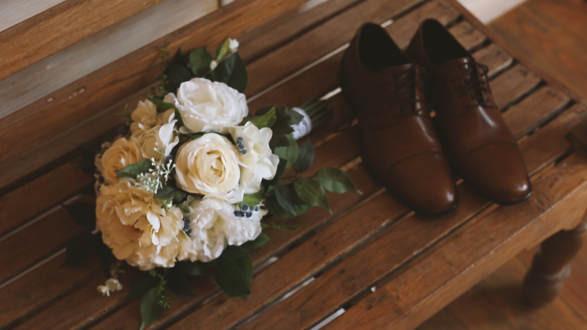 Amanda and Hayden_The White Magnolia Farm Weddings_New Orleans videographer_Groom shoes