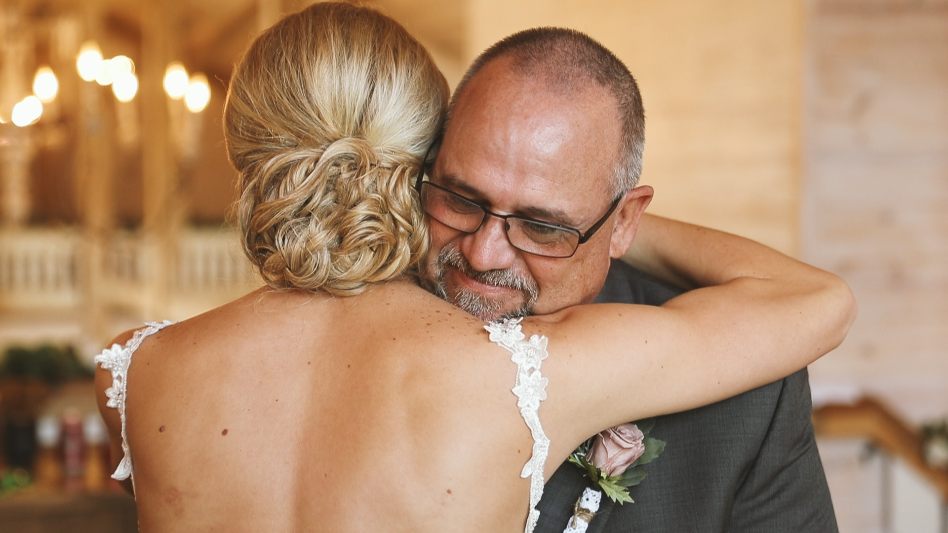 Amanda and Hayden_The White Magnolia Farm Weddings_New Orleans videographer_Father of the bride first look
