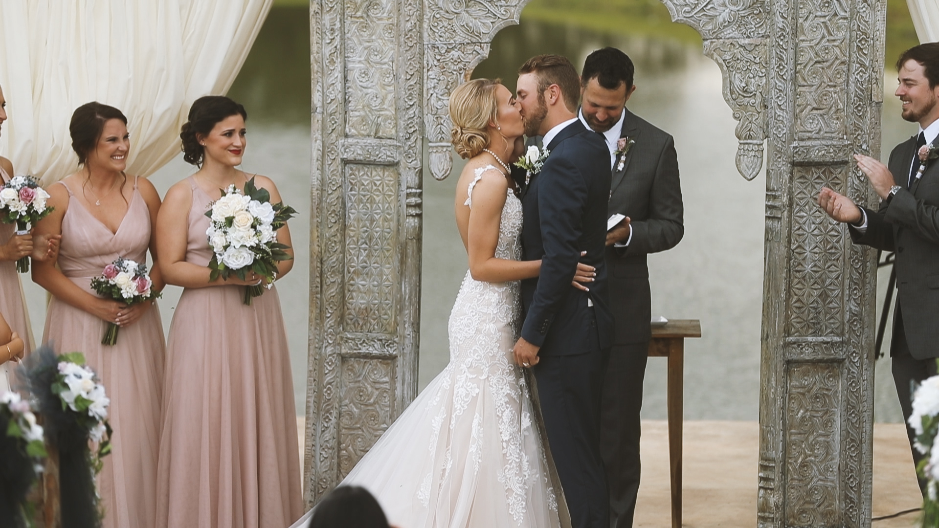 Amanda and Hayden_The White Magnolia Farm Weddings_New Orleans videographer_Bride outdoor wedding