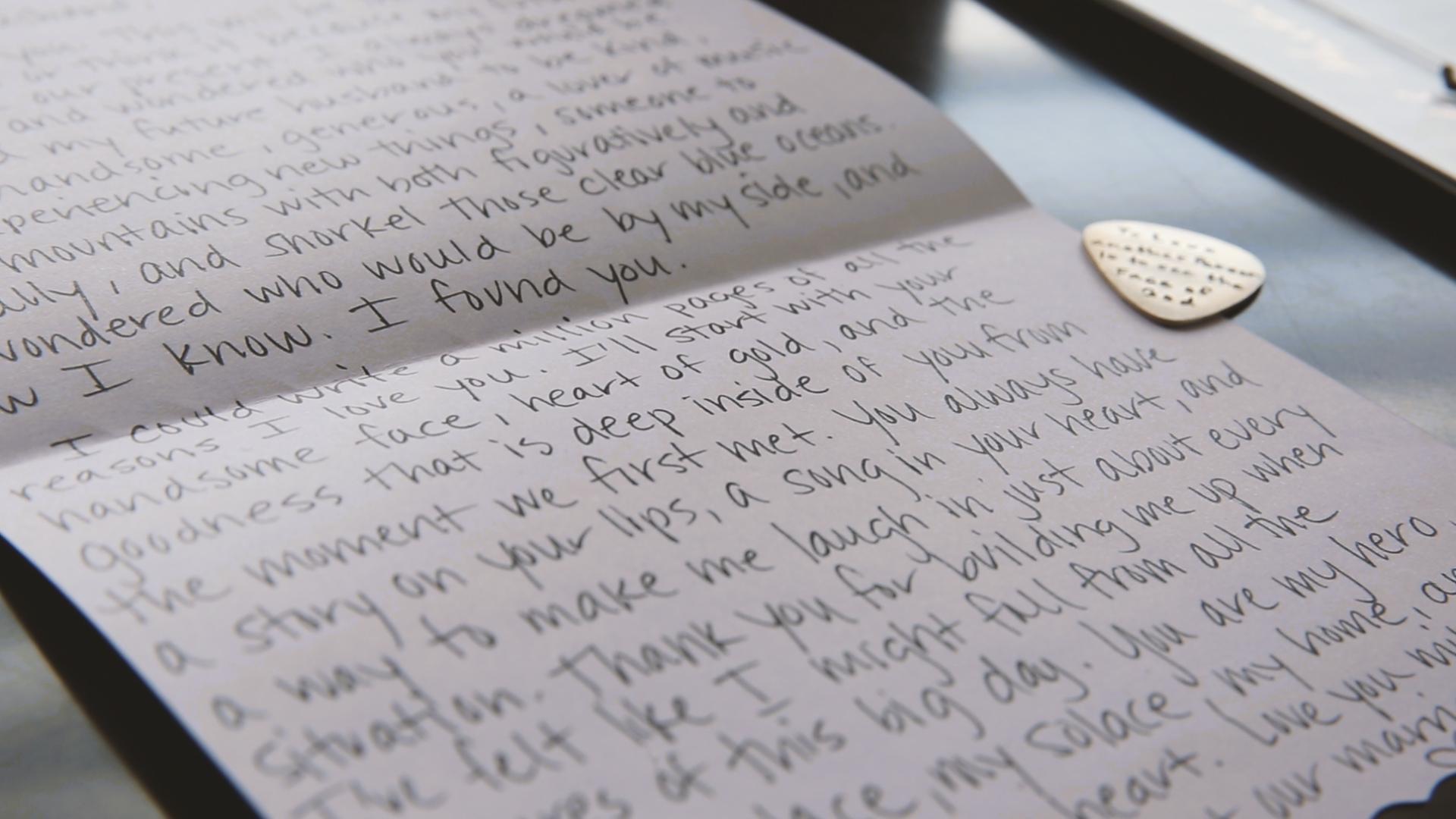 Wedding Day Romantic Letter - Bride Film