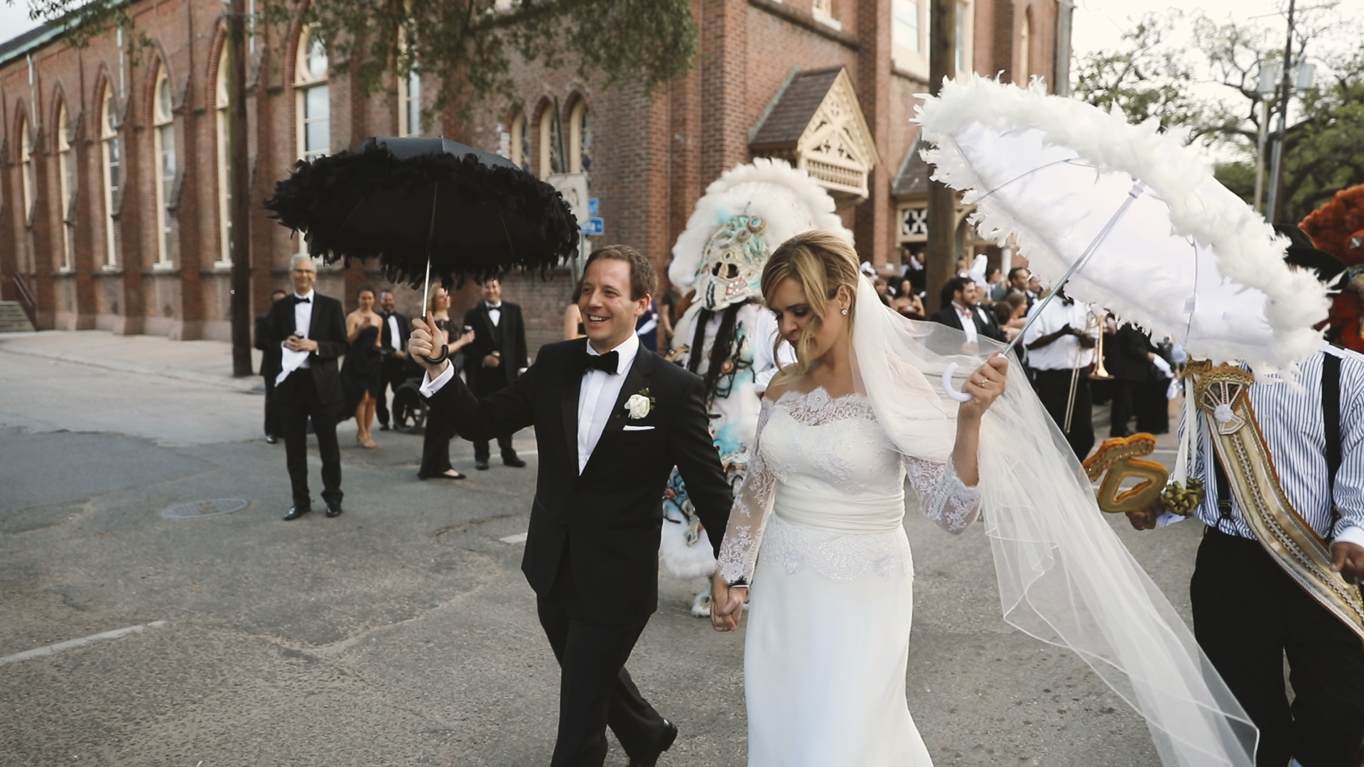 Colleen and Charles_Urban Contemporary Arts Center Wedding_New Orleans videographer_Second line