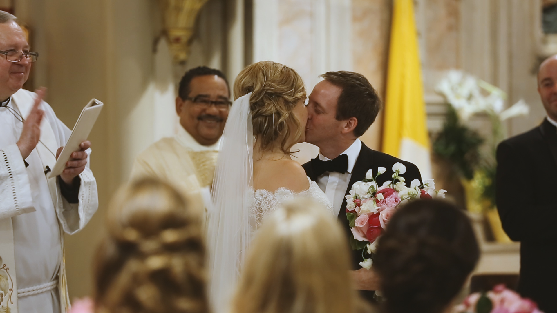 Colleen and Charles_Urban Contemporary Arts Center Wedding_New Orleans videographer_First kiss