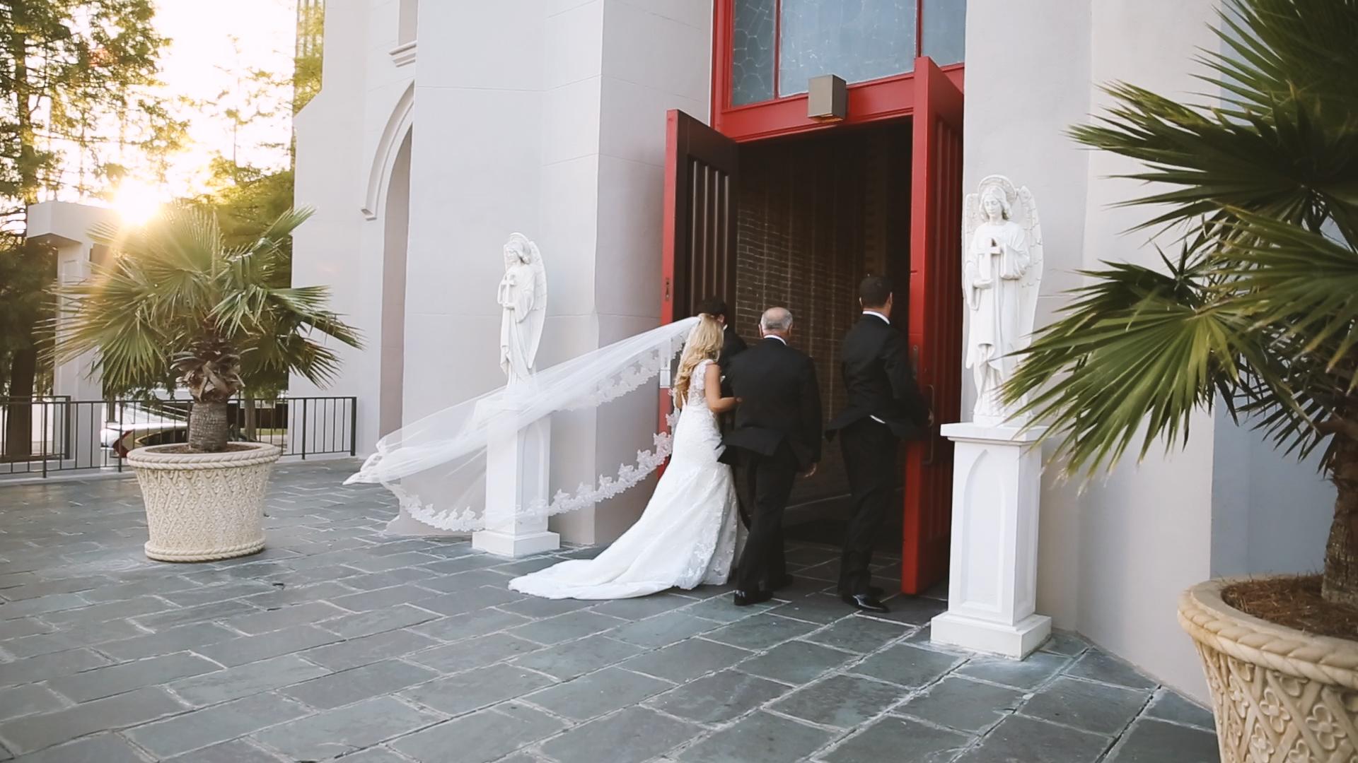 BrideFilm_Baton Rouge Wedding Videography_St Joseph Cathedral bride