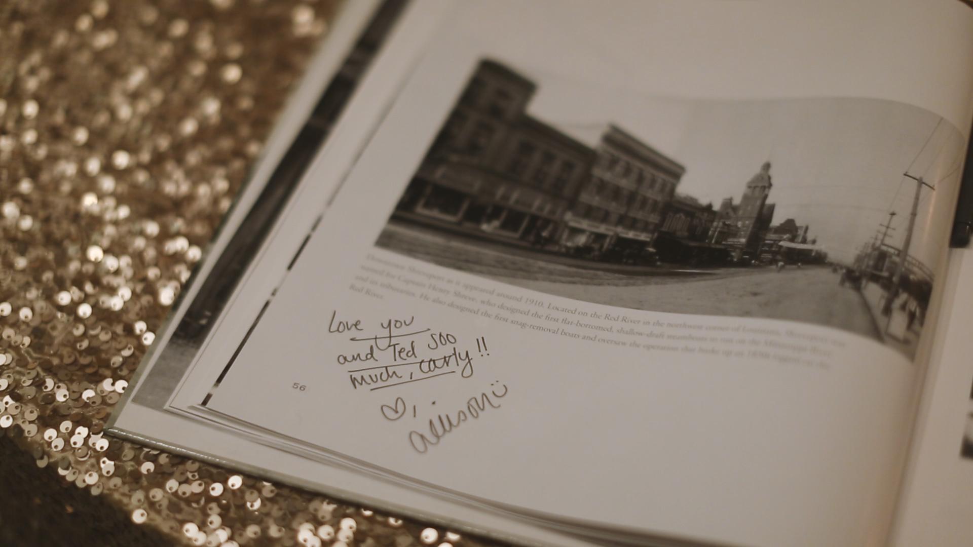 BrideFilm_Baton Rouge Wedding Videography_wedding guest sign book