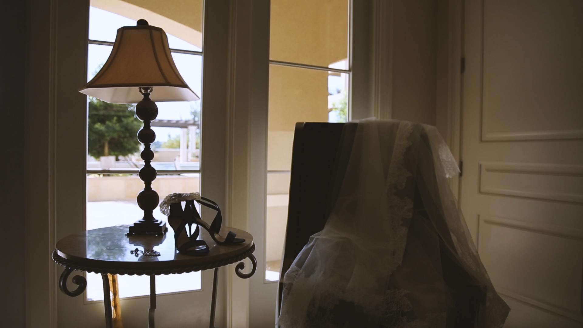 BrideFilm_Baton Rouge Wedding Videography_bridal shoes and veil
