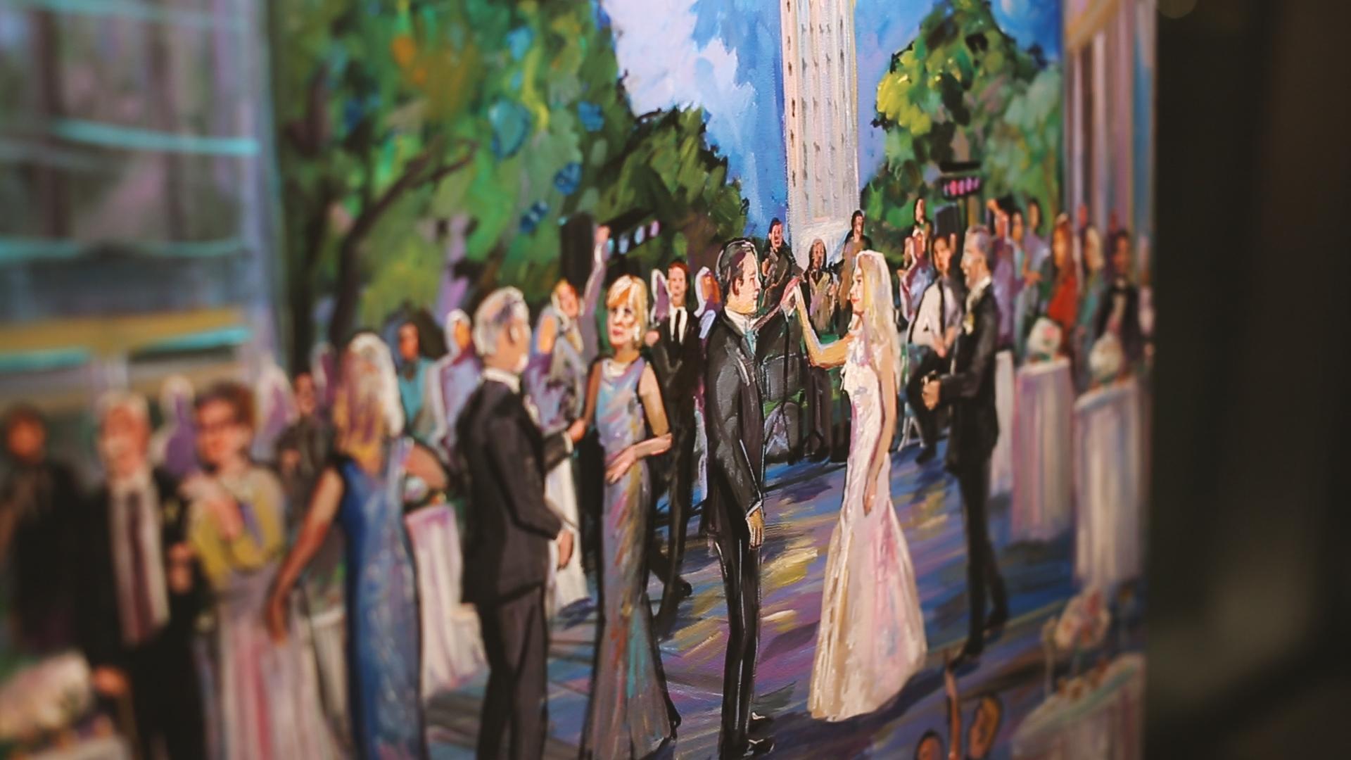BrideFilm_Baton Rouge Wedding Videography_wedding reception live painter