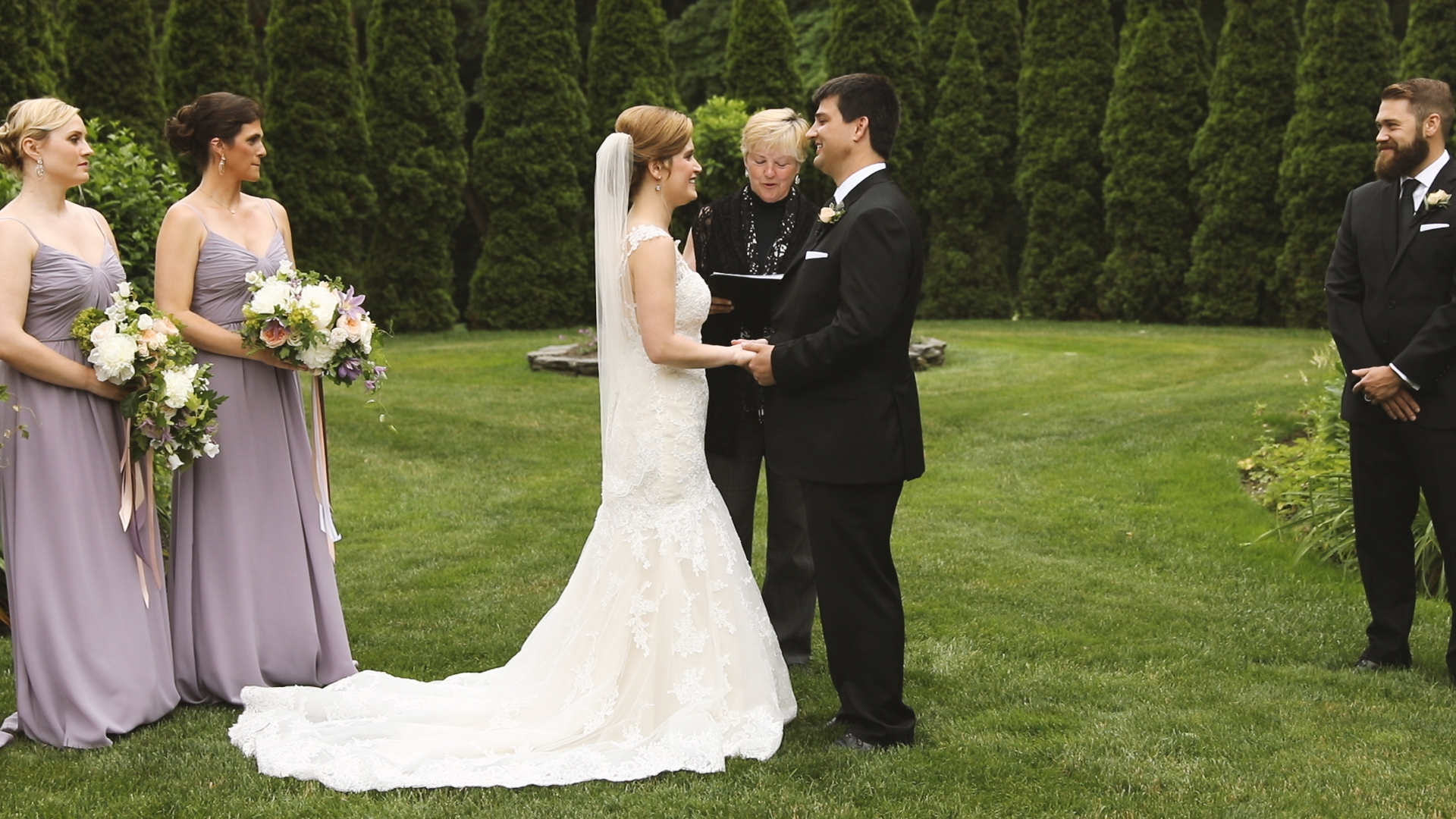 Newport Rhode Island Wedding - Bride Film - Glen Manor outdoor ceremony