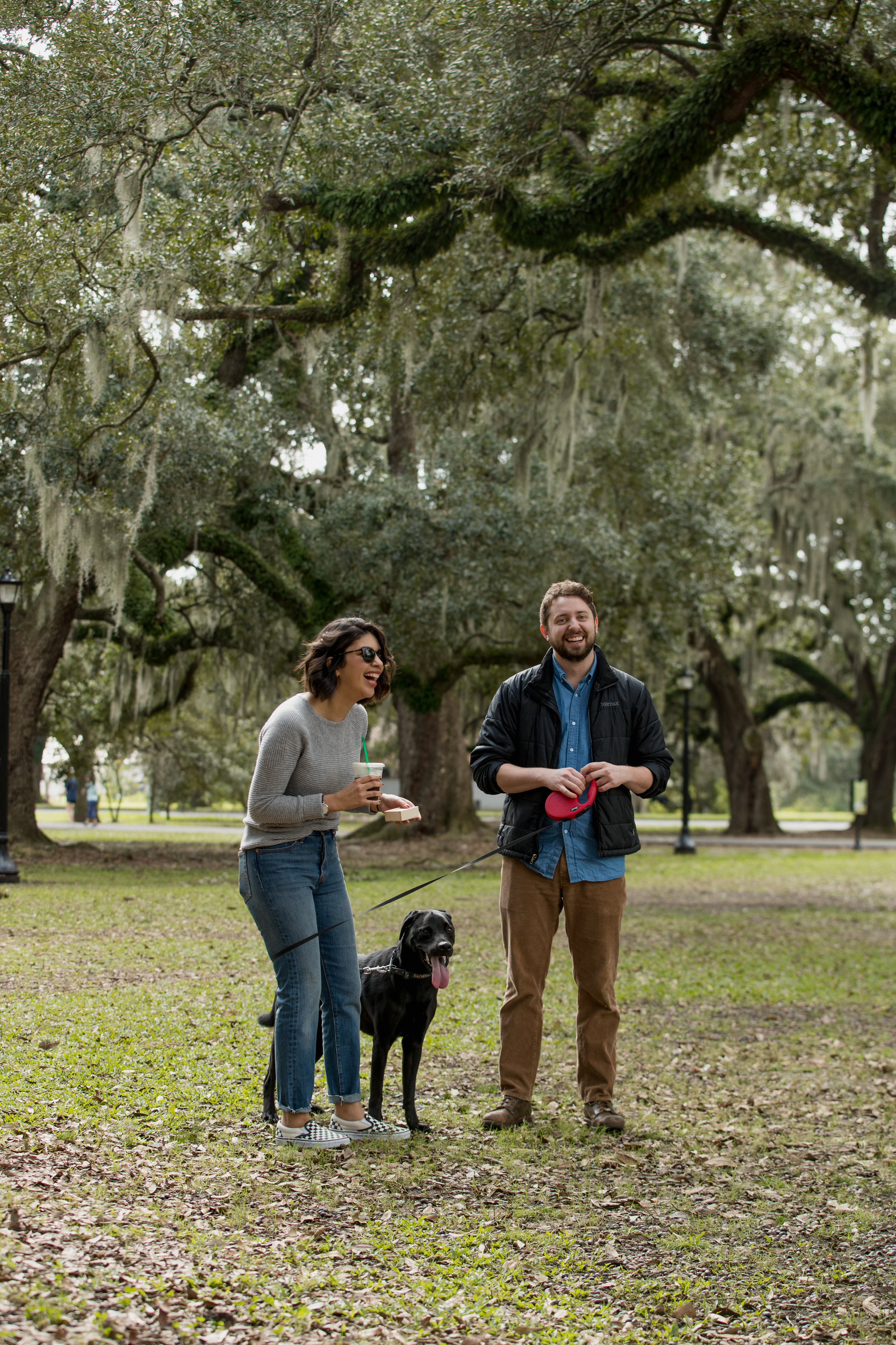 Alex and their puppy, Riggs surprised Janice during their Audubon Park engagement! We were so happy to capture this sweet moment!