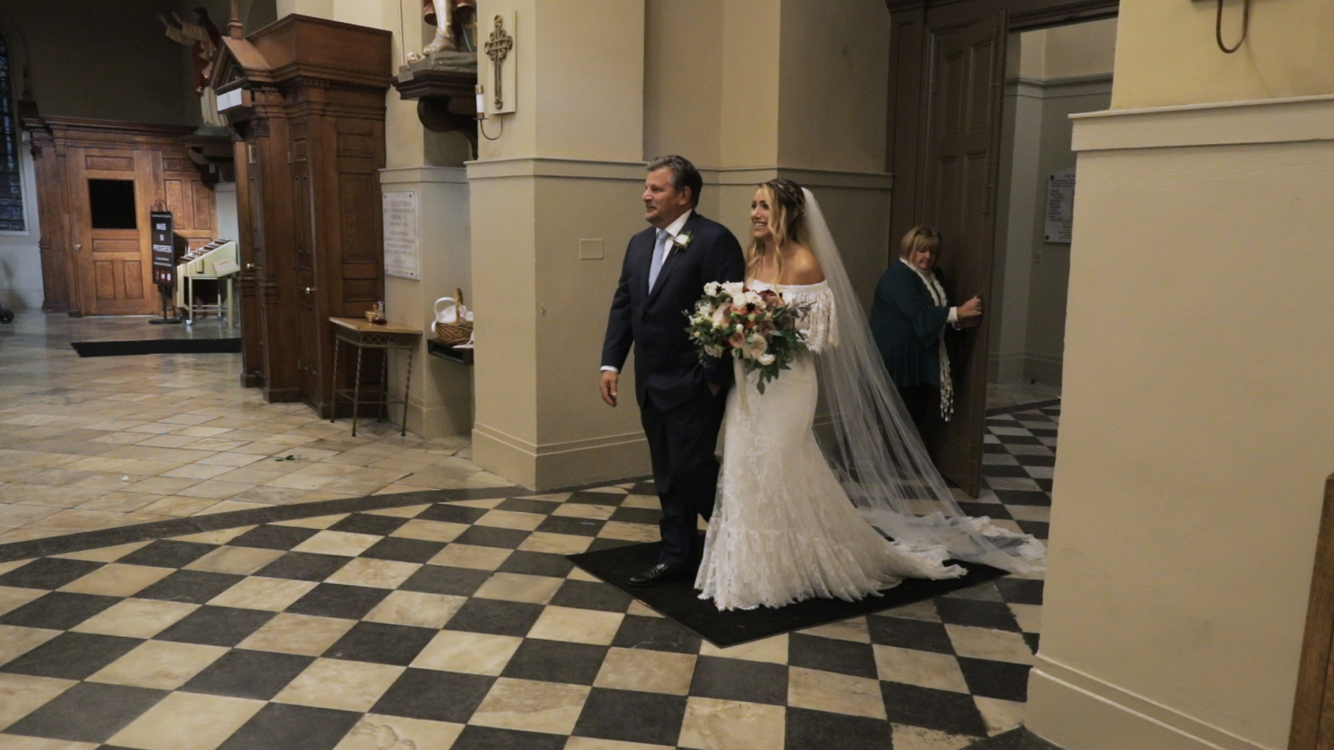 Annalisa and Anthony_New Orleans Wedding videography_bride ceremony entrance