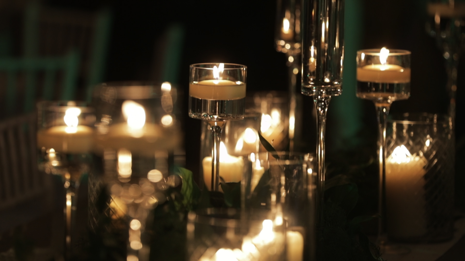 New Orleans Wedding Video_Elms Mansion_Paige and Travis_candle reception decor