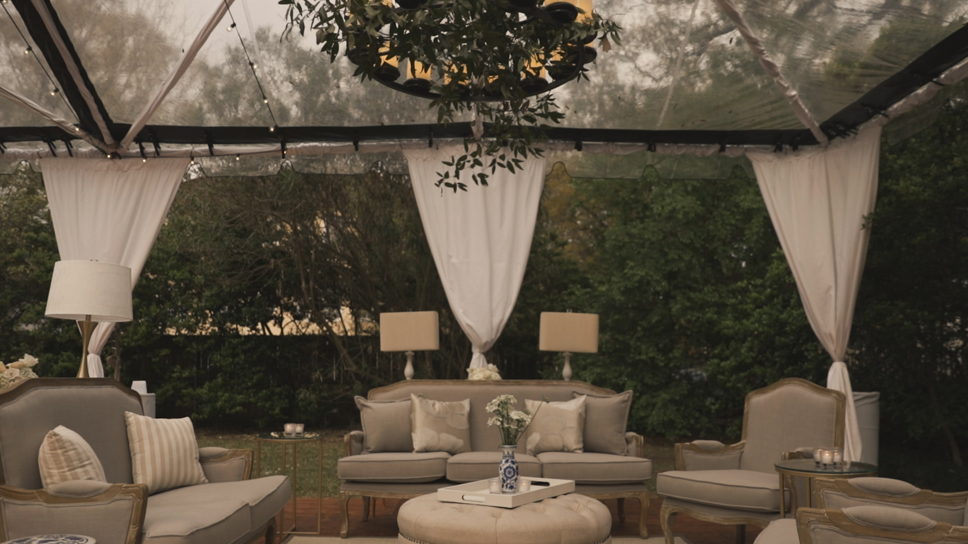 New Orleans Wedding Video_Elms Mansion_Paige and Travis_clear wedding tent
