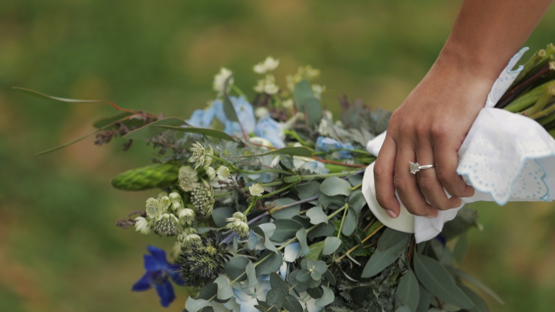 Anya and Max_New Orleans Wedding Video_Bride Film_Peristyle City Park_bouquet
