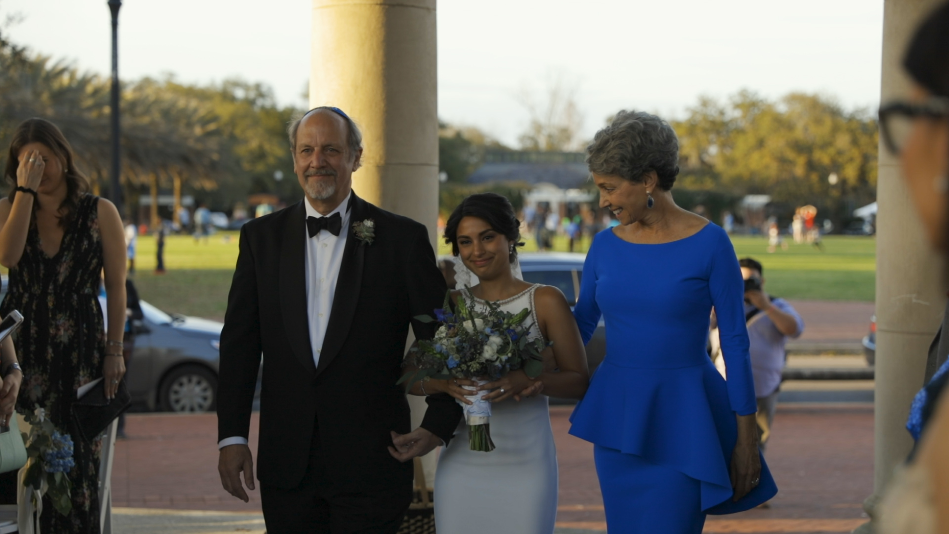 Anya and Max_New Orleans Wedding Video_Bride Film_Peristyle City Park_Bride walking down aisle