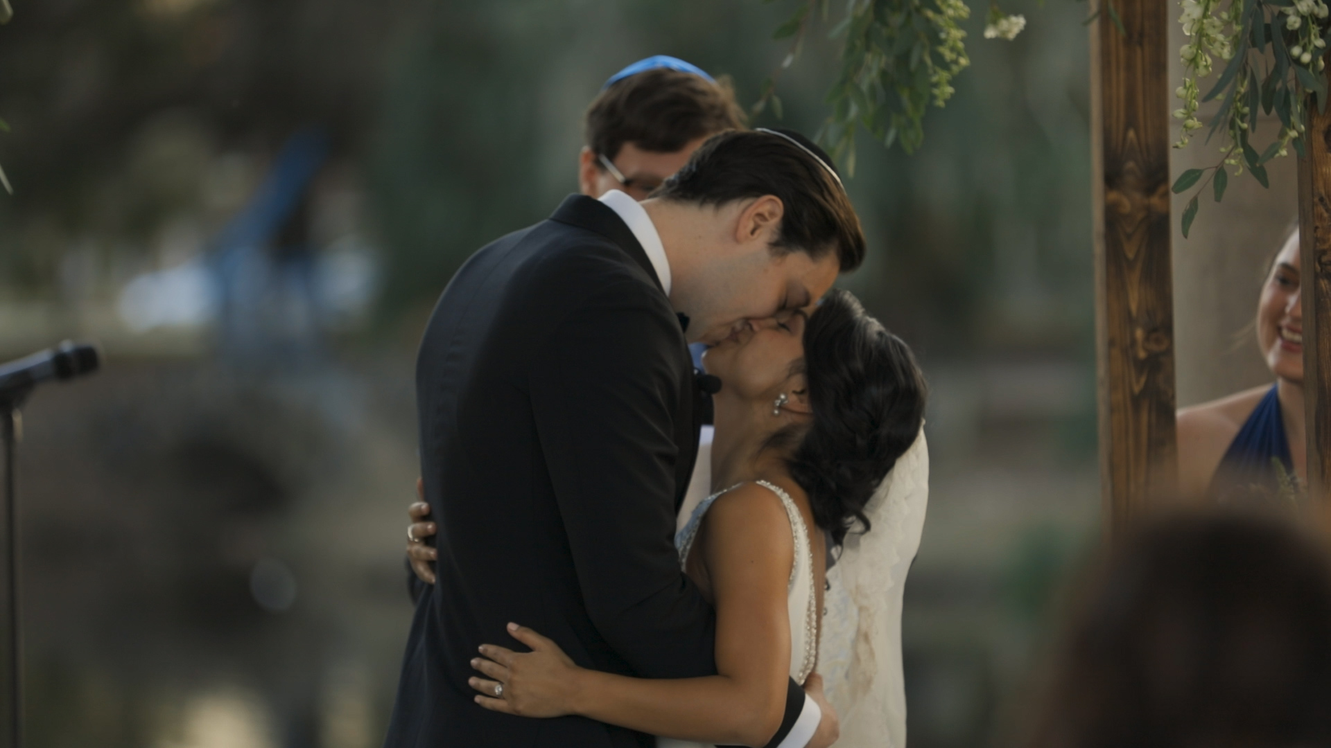 Anya and Max_New Orleans Wedding Video_Bride Film_Peristyle City Park_First kiss
