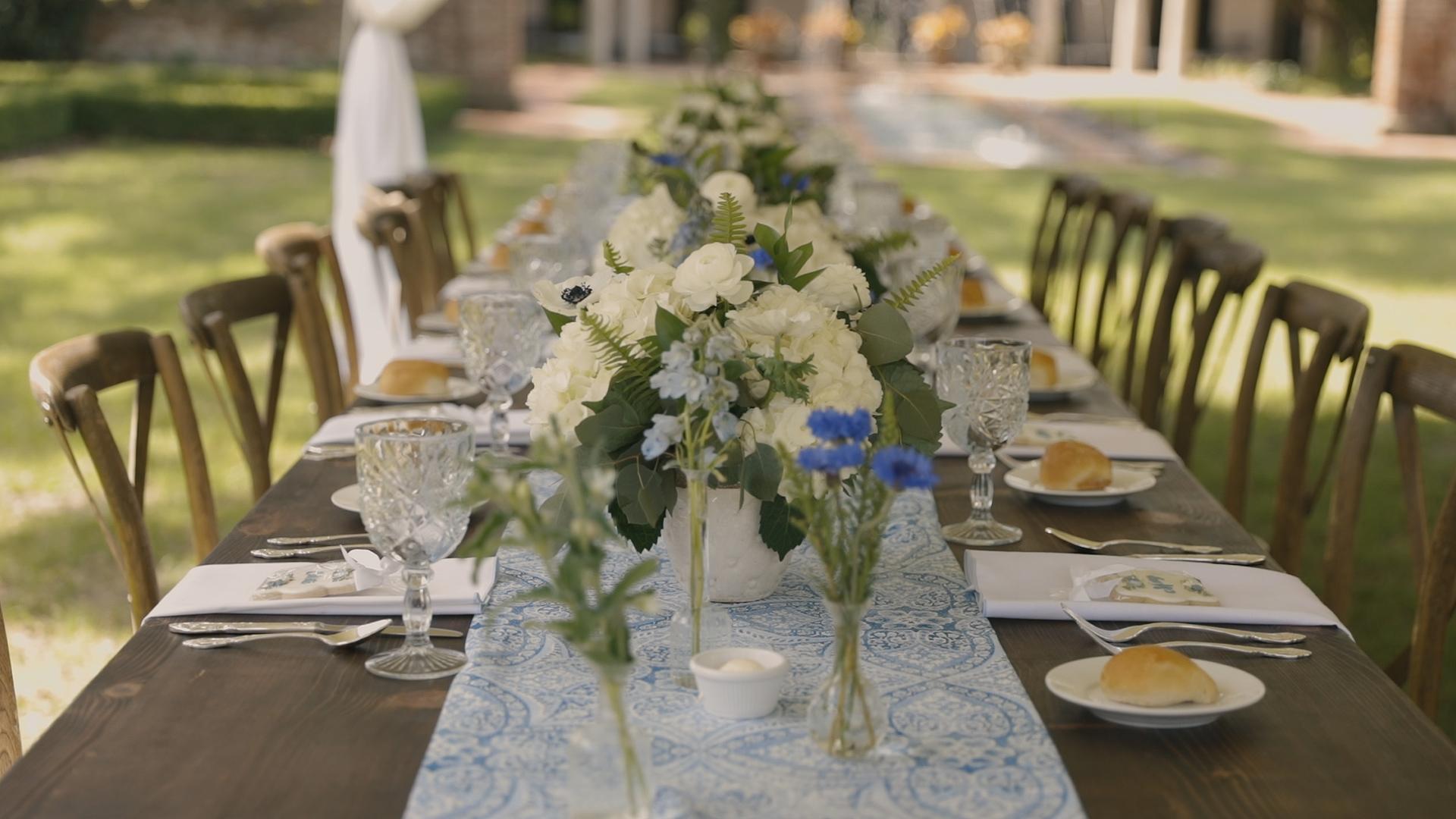 New Orleans Garden Bridal Brunch_Bride Film