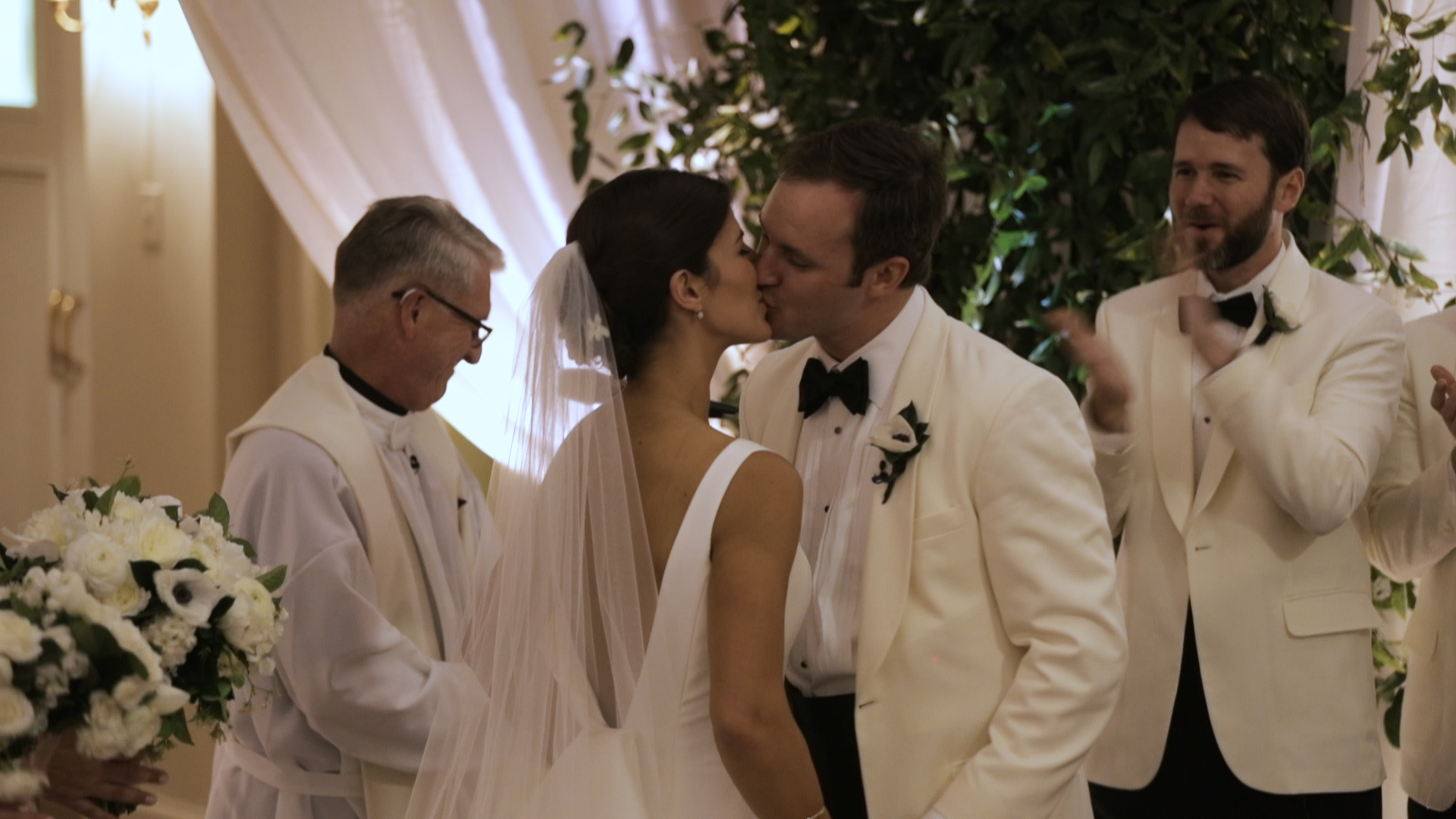 New Orleans Wedding Video_Sibyl and Charles_First kiss