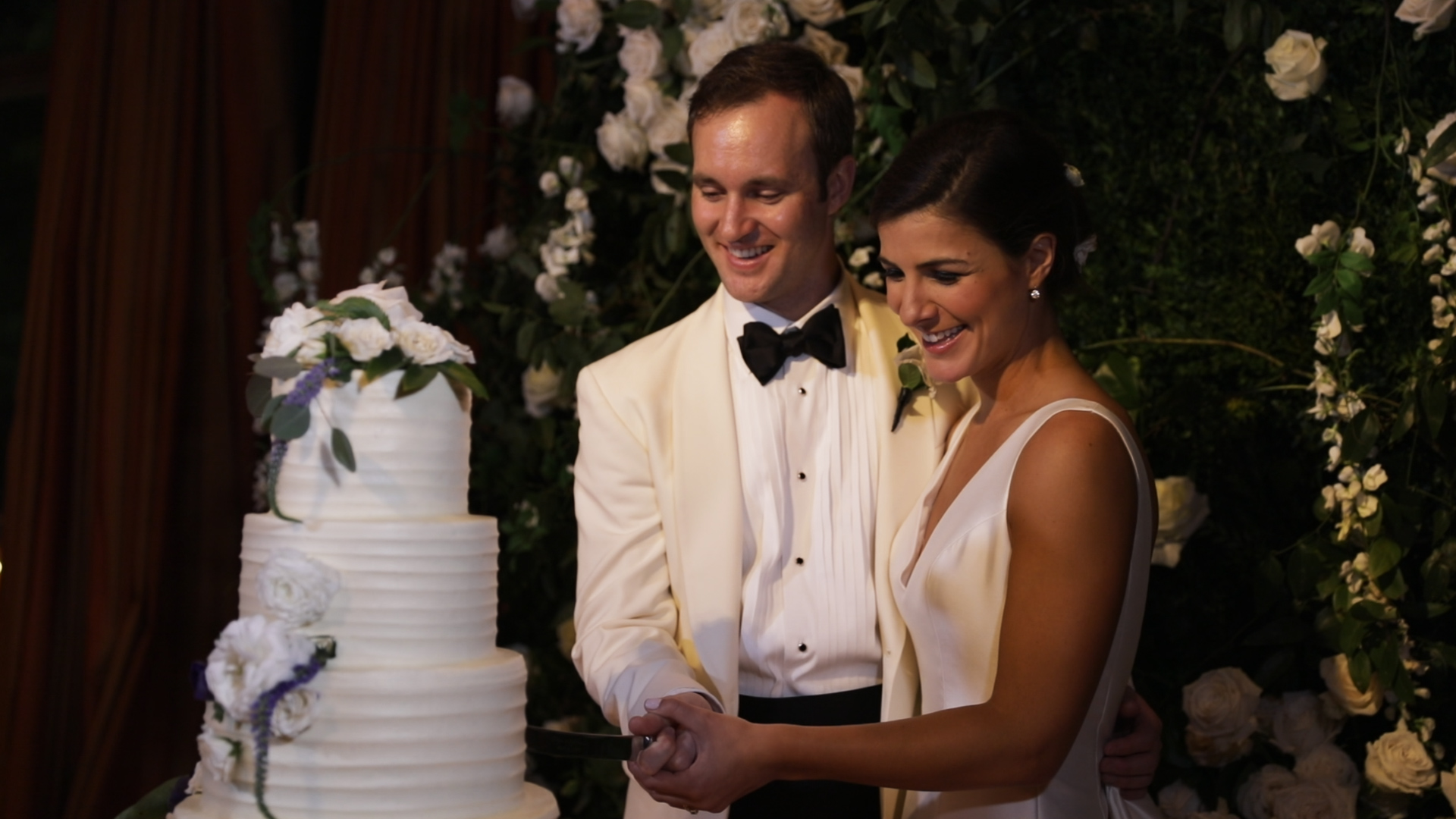 New Orleans Wedding Video_Sibyl and Charles_Wedding Cake Cutting