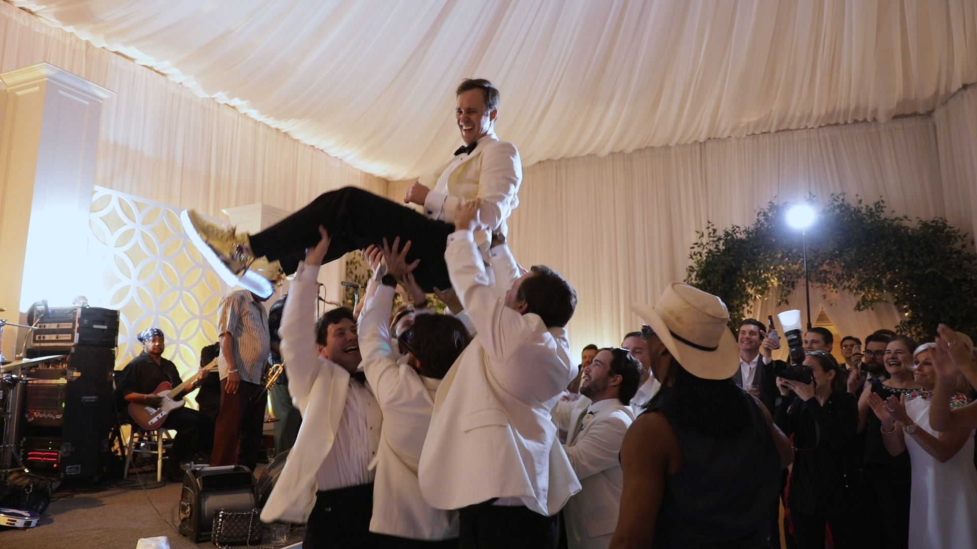 New Orleans Wedding Video_Sibyl and Charles_groom crowd surfing