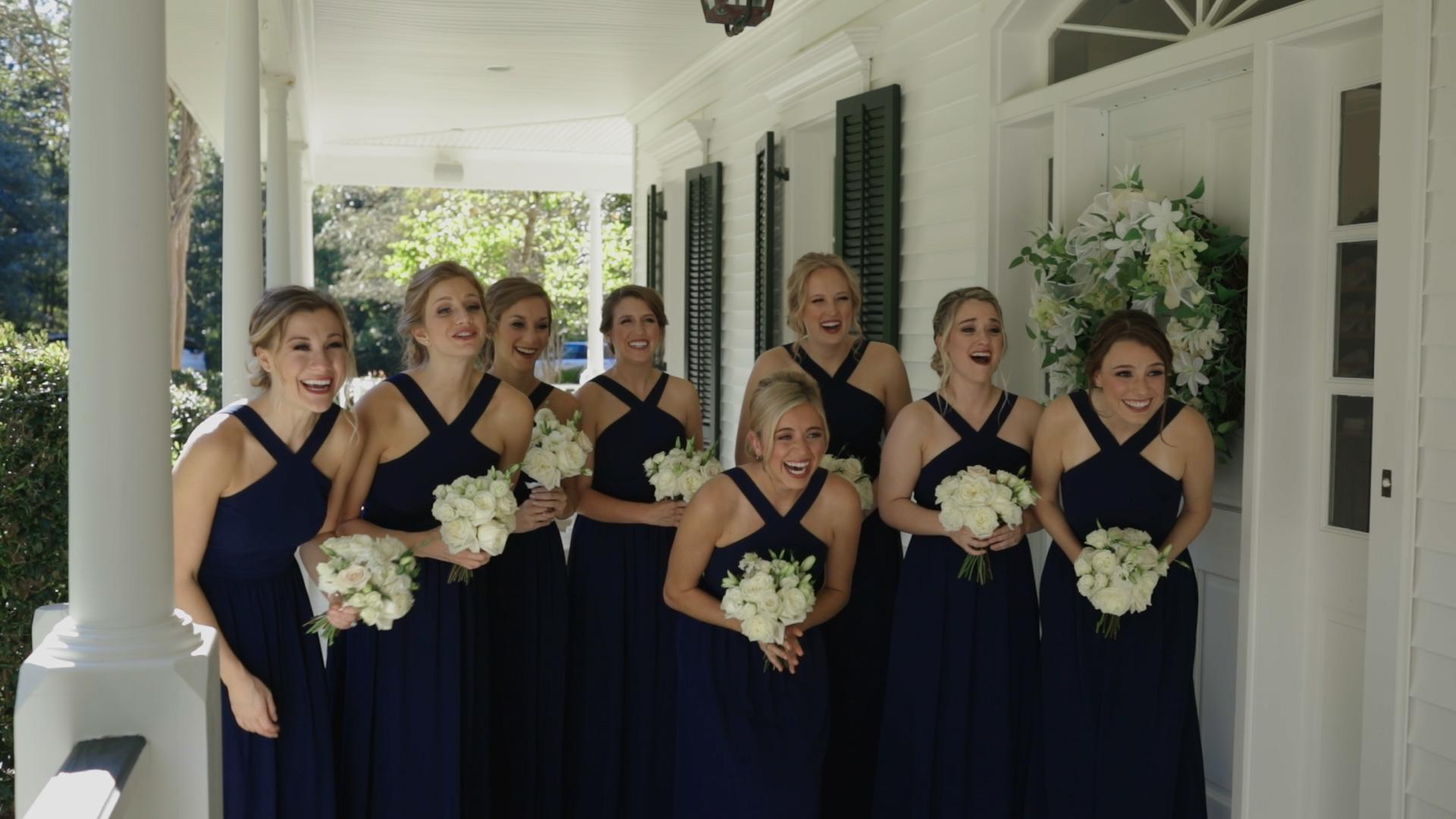 Covington Wedding Video - Bride Film - Navy Bridesmaid Dress