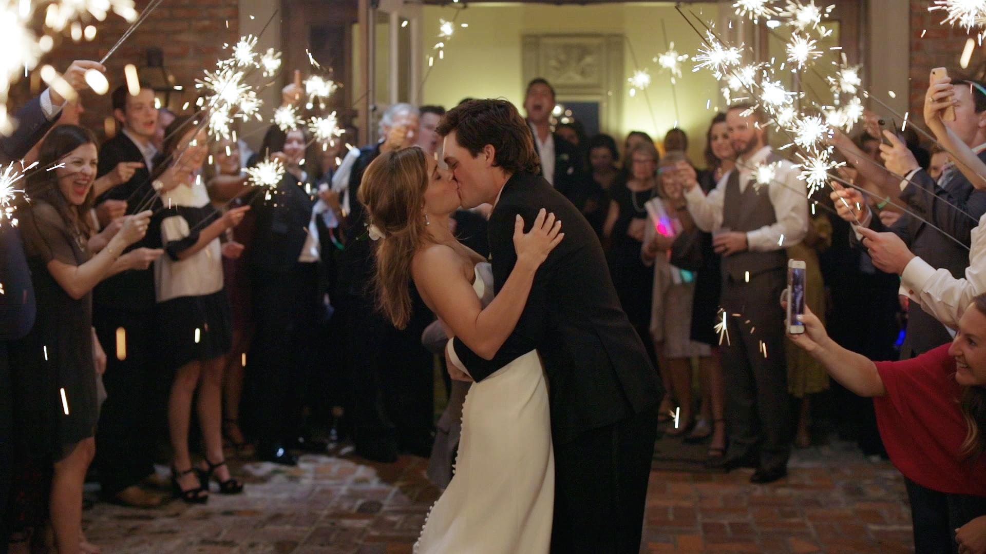 Covington Country Club Wedding Video - Bride Film - Sparkler Exit
