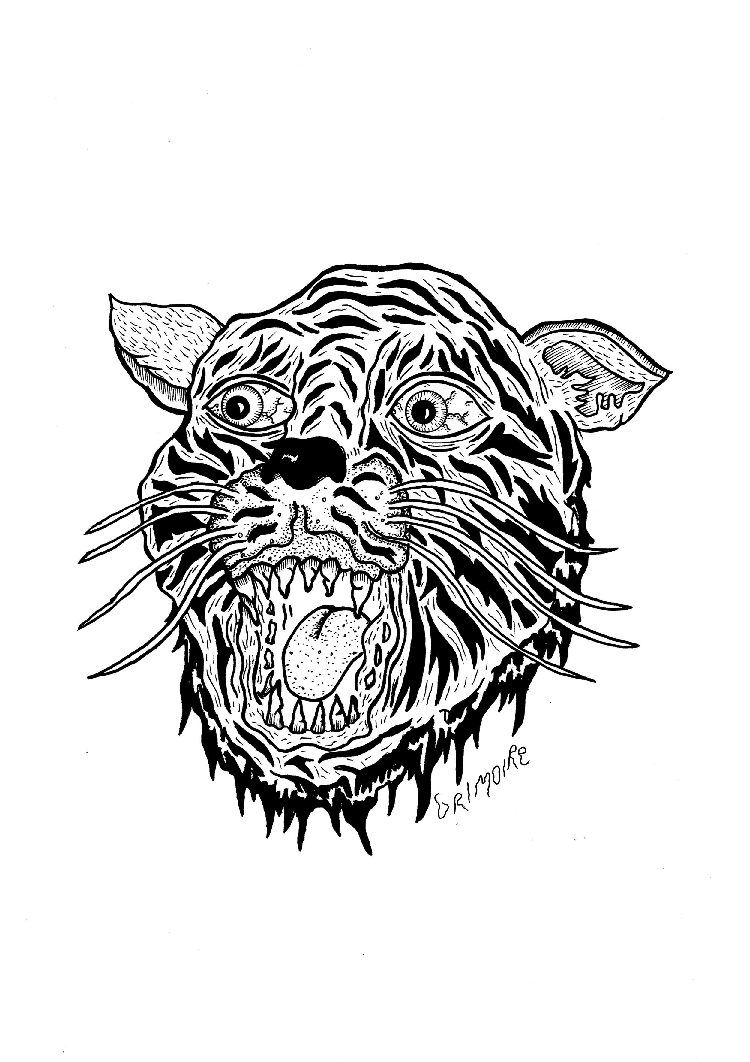 Back Design - Sailor Jerry Tiger.
