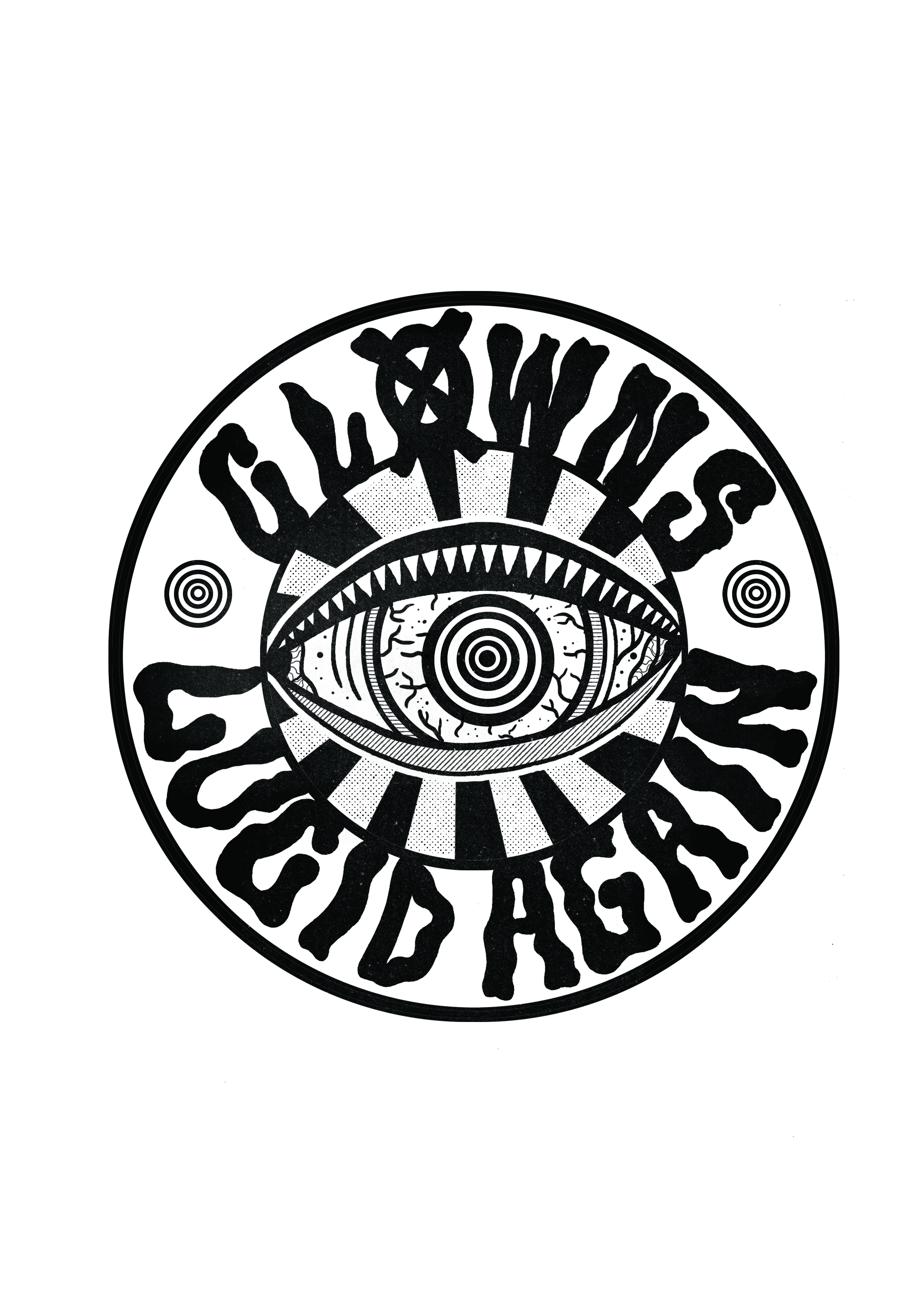 Logo for Melbourne band Clowns.