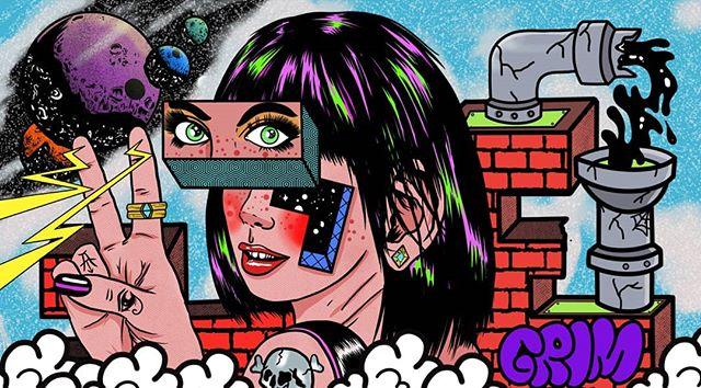 Color or B/W? . . 05/08/19 . #grimoire666 #illustration #design #art #procreate #digitalart #psychedelicart #brutsubmission