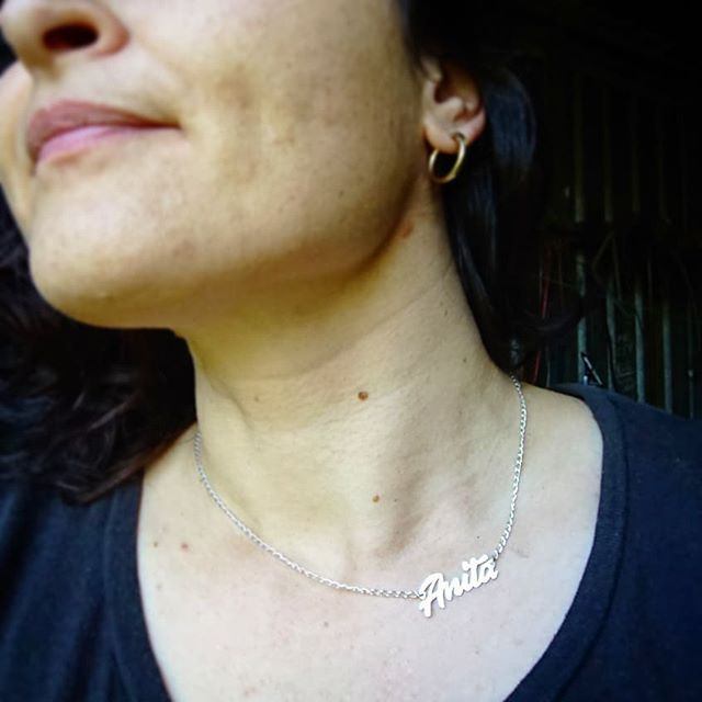 Maybe I should have been a bit more inventive with the word but I'm still working on the basics so it seemed like a good place to start. Fun things happening at the bench this arvo.  #atthebench #atthebenchtoday #silversmithing #silverjewellery #silvernecklace #handmade #madebyme #namenecklace #jewellerybench #makersgonnamake