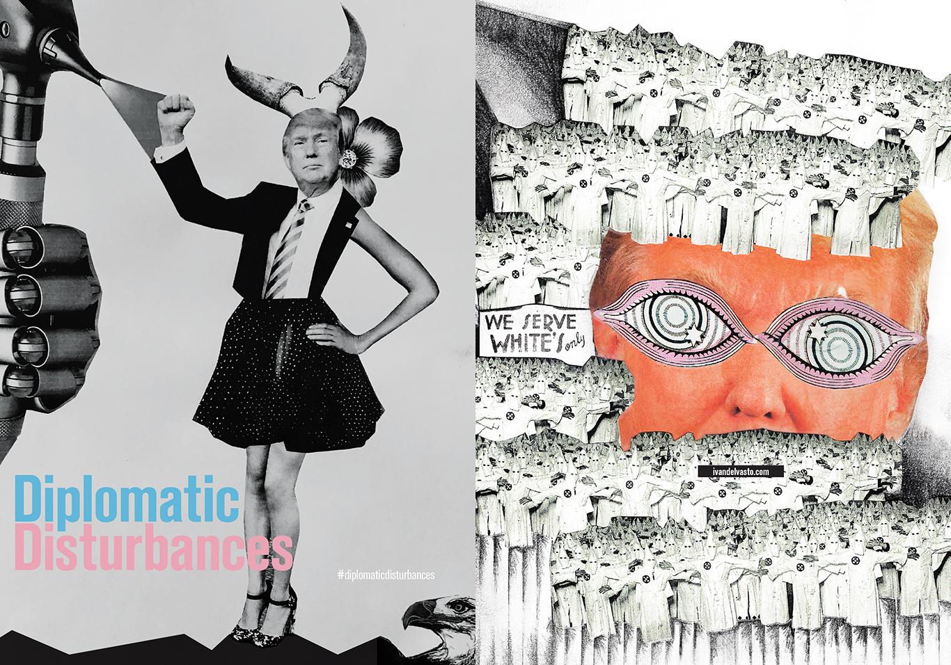diplomatic disturbances zine magazine  cover + spreads