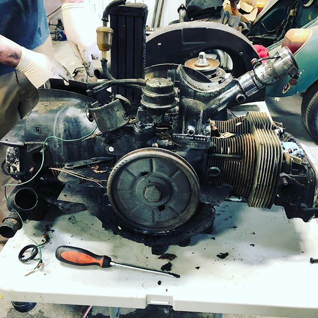 VDub getting torn down and rebuilt! #vwbug #vwscene #vwaircooled #aircooled