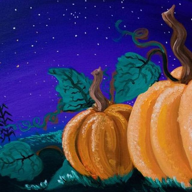 Paint night on Friday, October 18th.  Join us with our great artist Chris who is going to teach you how to paint this beautiful pumpkins drawing. If you want to book please call us at 702.823.4466. See you on Friday !