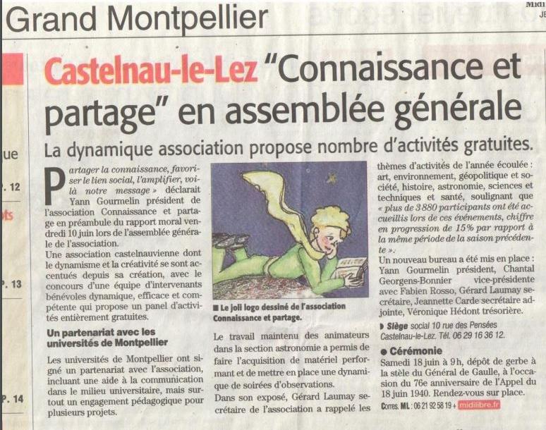Grand Midi libre article numéro 1
