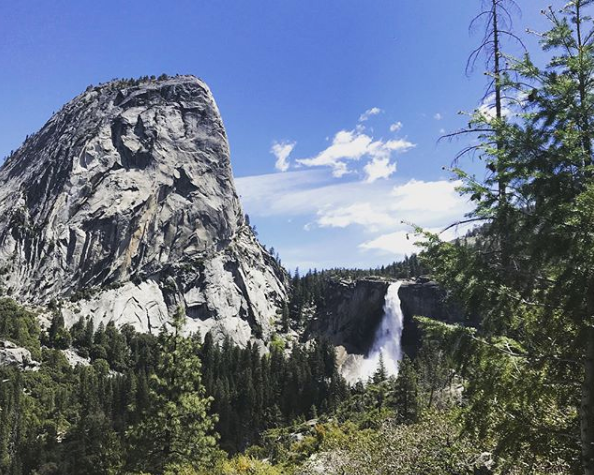 Photo from the giftUP team hiking the Vernal Falls Trail in Yosemite Valley