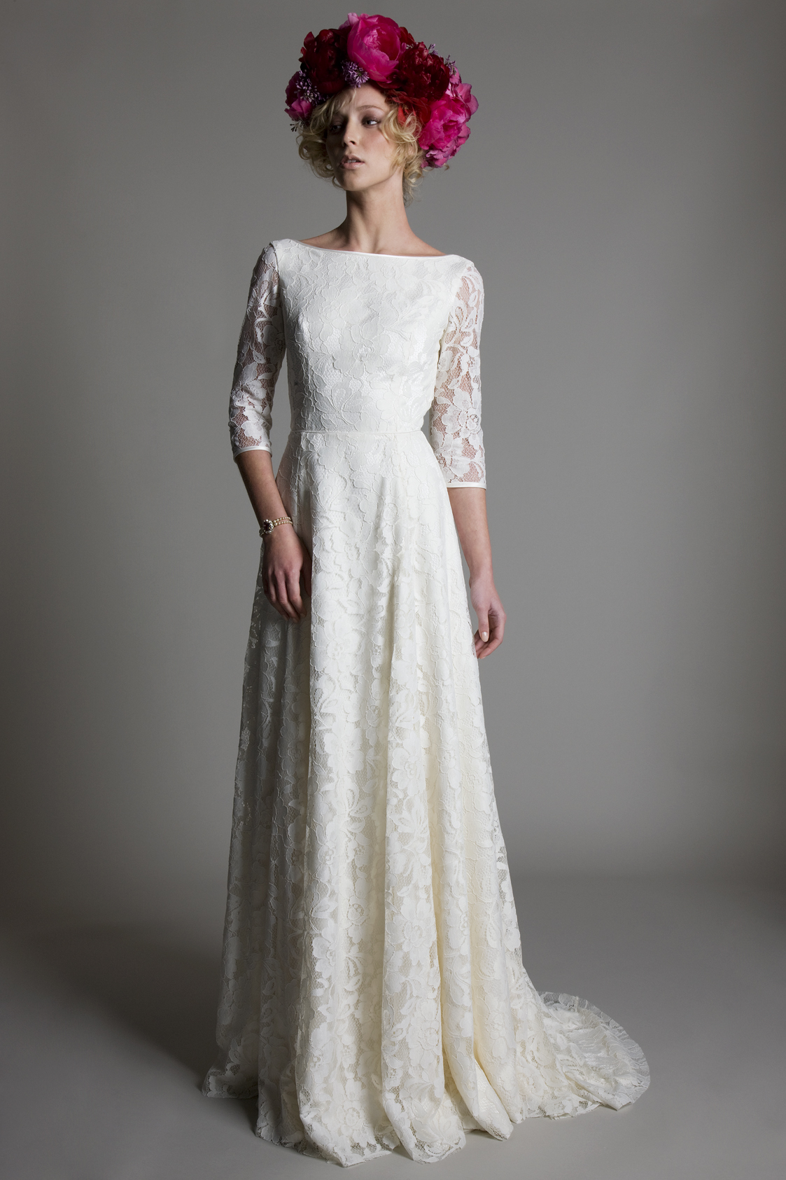 Antonia ivory lace bridal wedding dress by Halfpenny London
