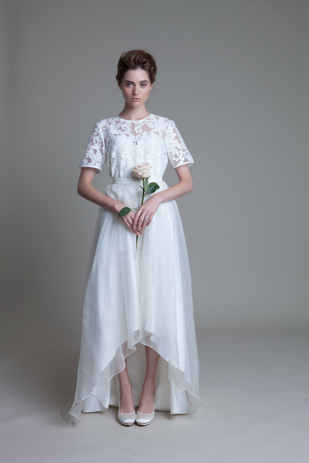 High Low Lola wedding dress by Halfpenny London.
