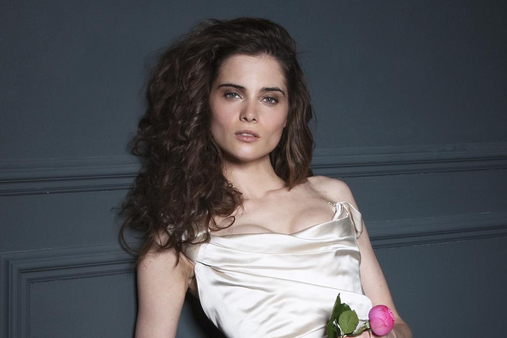 Andrea Duchess silk corset bridal wedding dress by Halfpenny London