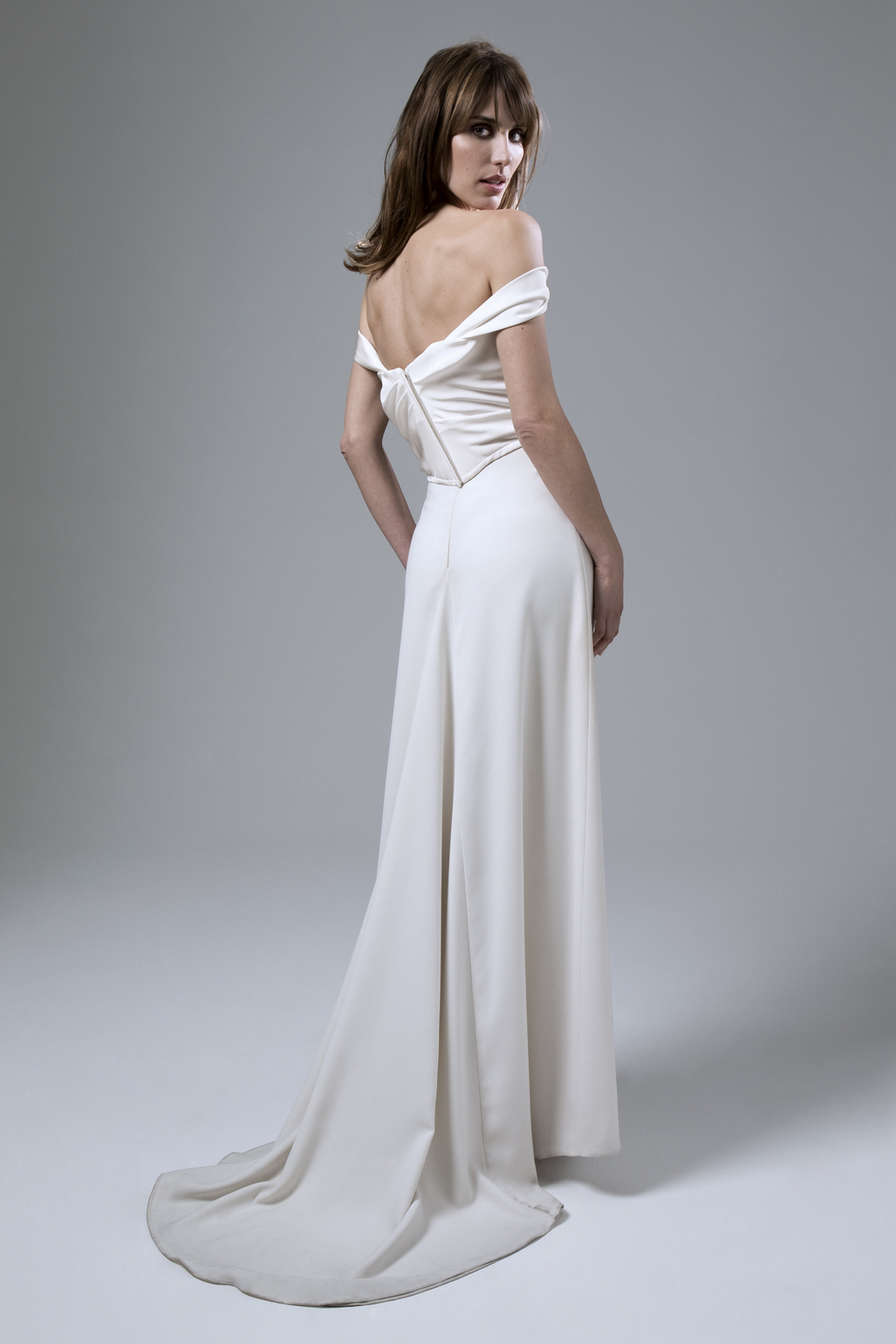 Andrea Draped Corset and Crepe Skirt by Halfpenny London