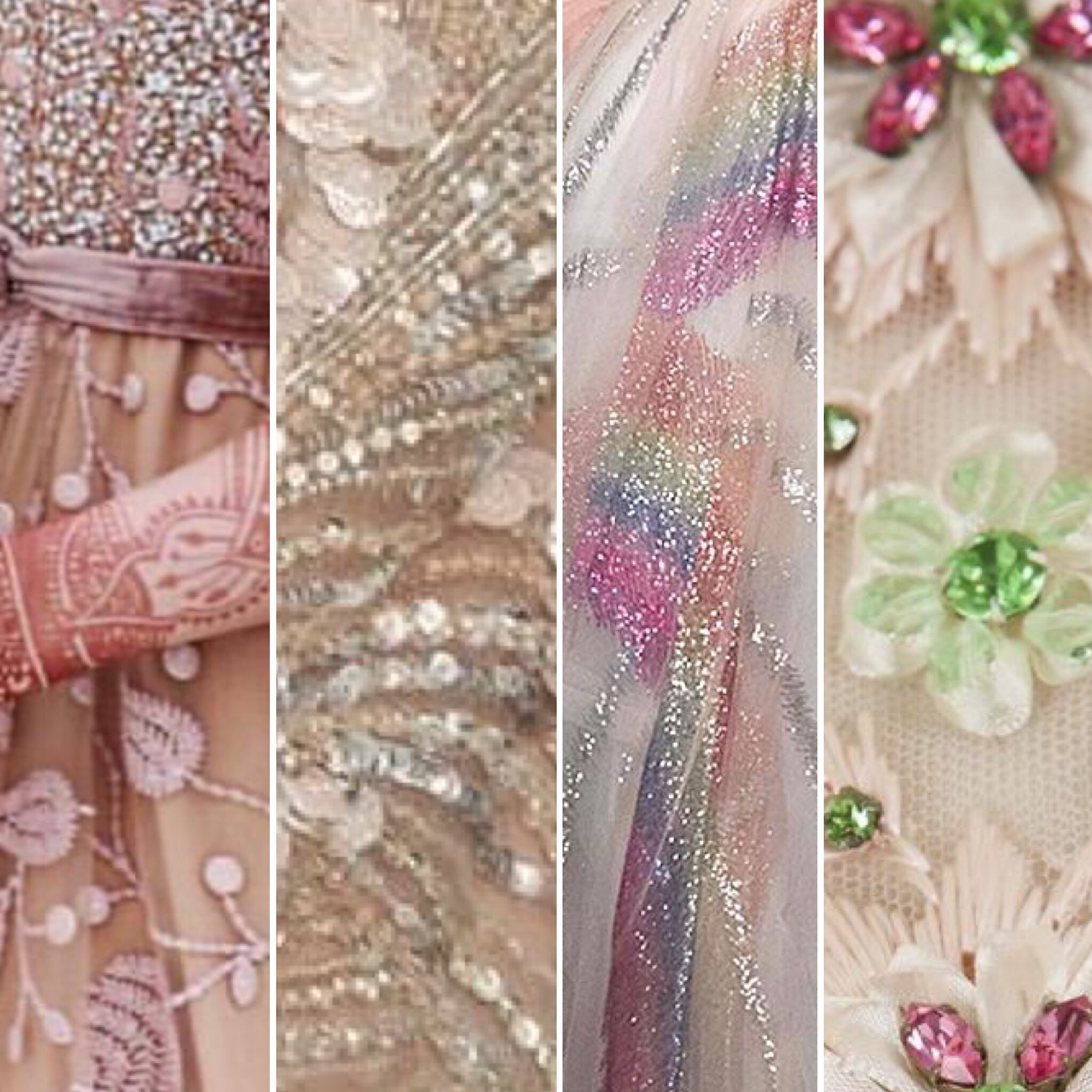 Pinks, green and Metallica, I'm so obsessed with these divine fabrics used by Valentino and Dior.