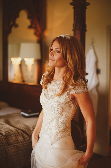 Beautiful Halfpenny London bride Katie wears the Marianne hand beaded and embroidered tulle wedding dress 2.jpeg