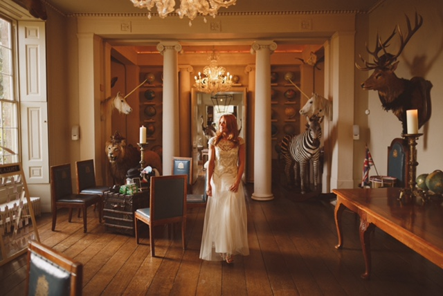 Beautiful Halfpenny London bride Katie wears the Marianne hand beaded and embroidered tulle wedding dress 5.jpeg