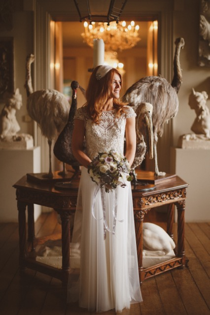 Beautiful Halfpenny London bride Katie wears the Marianne hand beaded and embroidered tulle wedding dress 8.jpeg